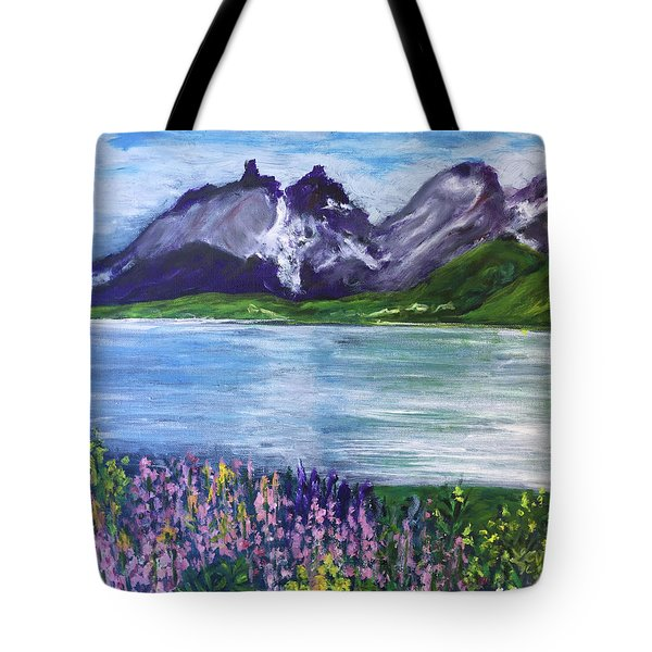 Torres Del Paine In Chile Tote Bag