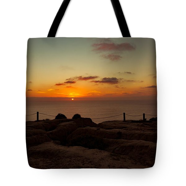 Torrey Pine Glider Port Sunset Tote Bag