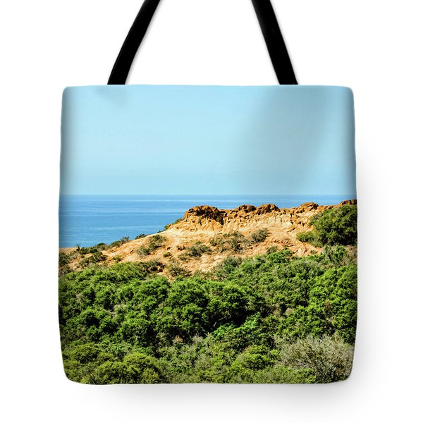 Torrey Pines California - Chaparral On The Coastal Cliffs Tote Bag