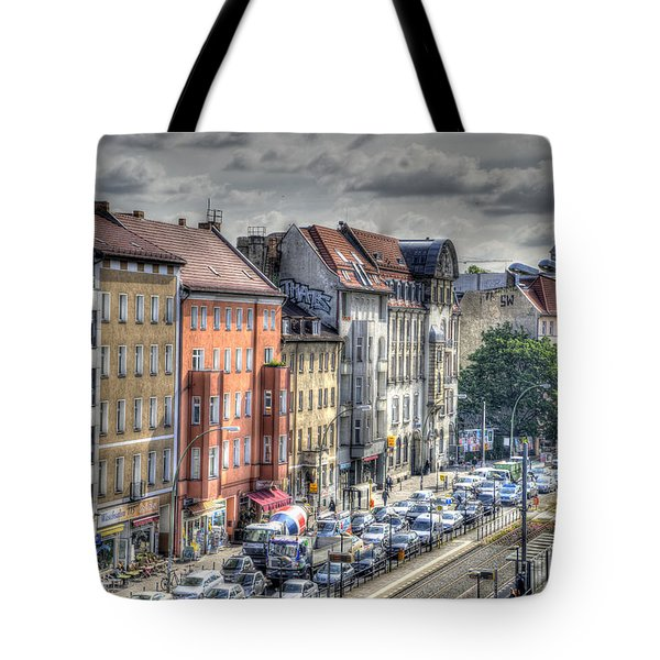 Tote Bag featuring the photograph Torstrasse Berlin by Uri Baruch