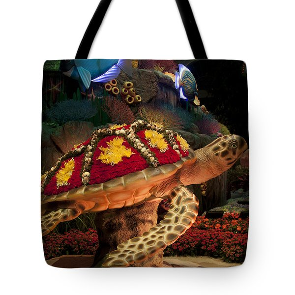 Tortoise In The Garden Tote Bag by Ivete Basso Photography