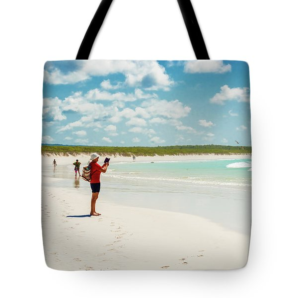Tortuga Bay Beach At Santa Cruz Island In Galapagos  Tote Bag