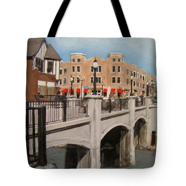 Tosa Village Bridge Tote Bag