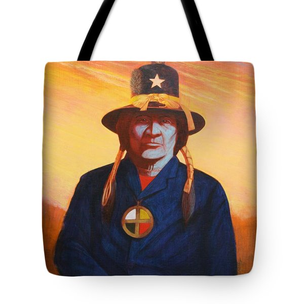Tosh-a-wah,peneteka Comanche Chief Tote Bag by J W Kelly