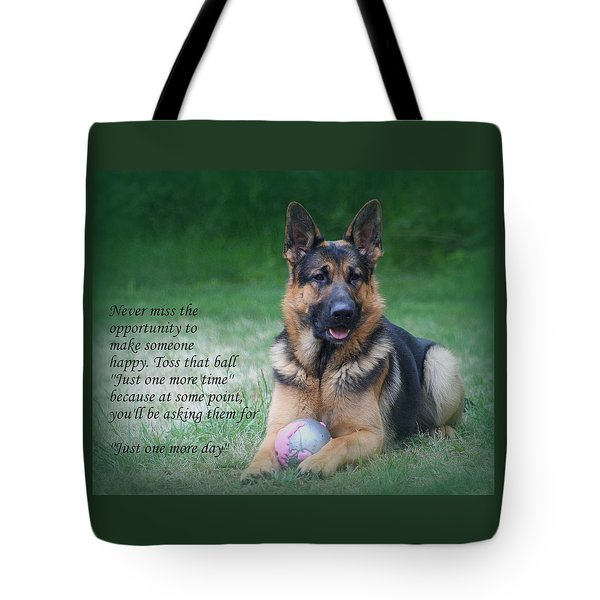 Toss That Ball Tote Bag