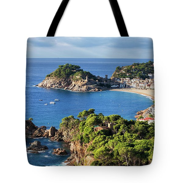 Tossa De Mar Sea Town On Costa Brava In Spain Tote Bag