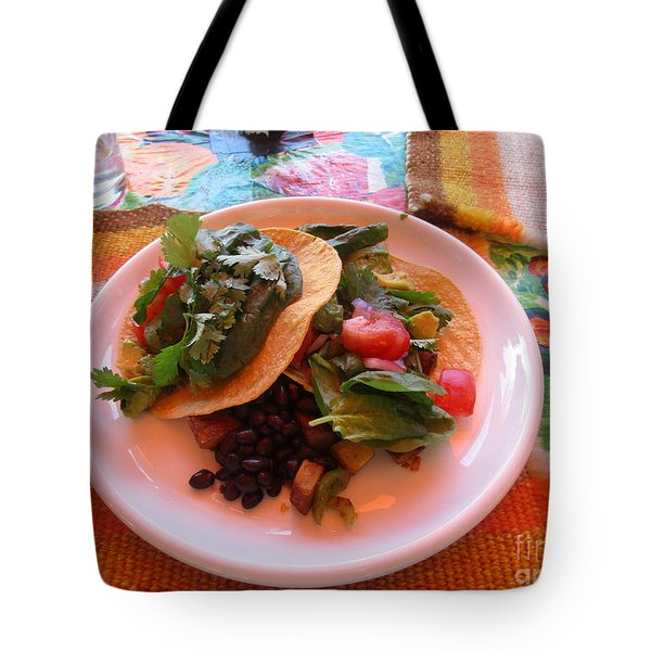 Tote Bag featuring the photograph Tostada Times Two by Marie Neder
