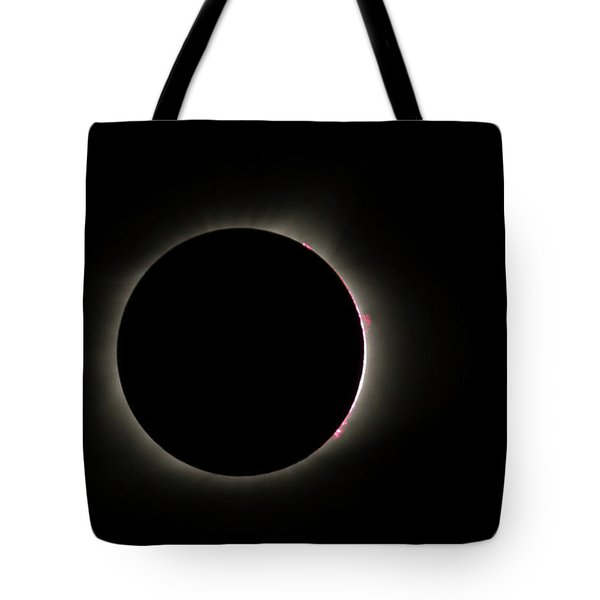Total Eclipse Solar Flares Tote Bag