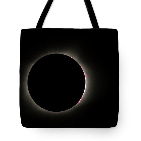 Total Eclipse Solar Flares Tote Bag