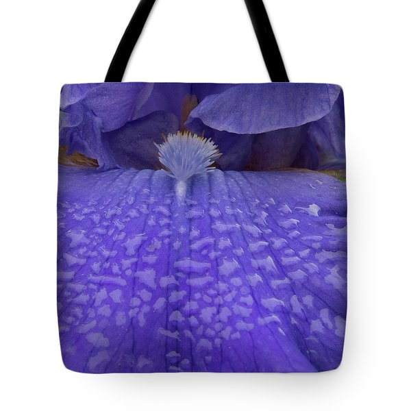 Tote Bag featuring the photograph Totally Blue Iris by Jean Noren