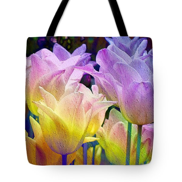 Totally Tulips Two Tote Bag