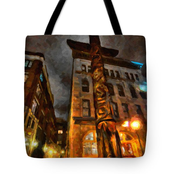 Totem In The City Tote Bag by Andre Faubert