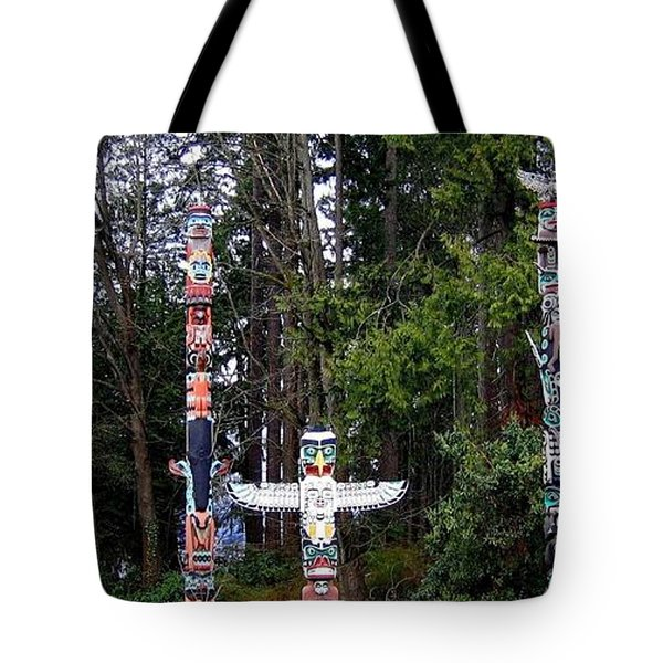 Totem Poles Tote Bag by Will Borden
