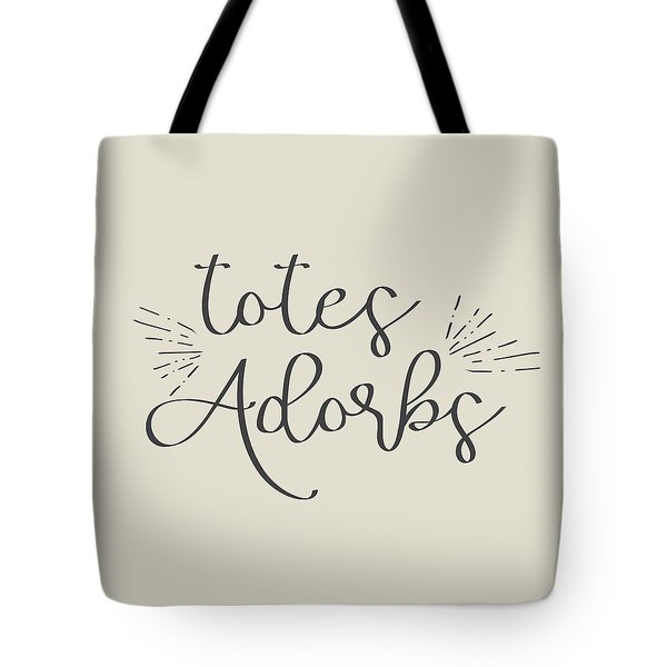 Tote Bag featuring the digital art Totes Adorbs by Jaime Friedman