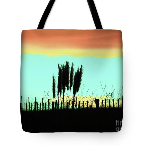 Totitoi Sunset II Tote Bag by Karen Lewis