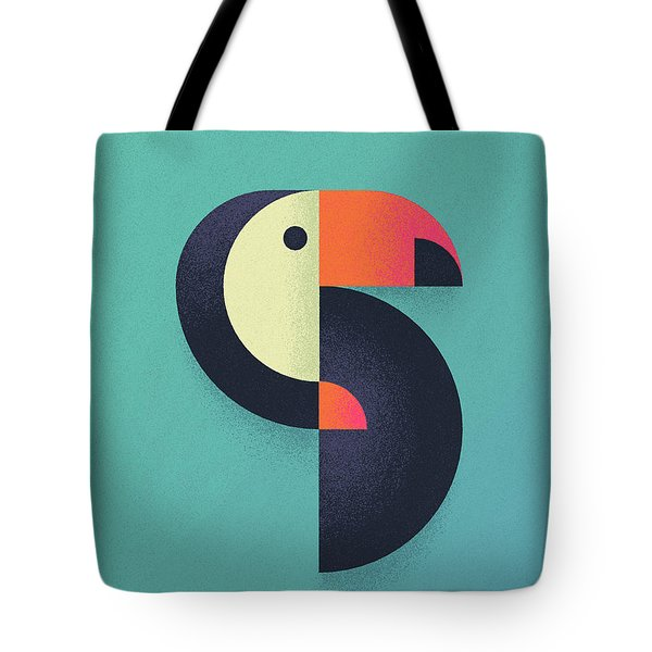 Toucan Geometric Airbrush Effect Tote Bag by Ivan Krpan