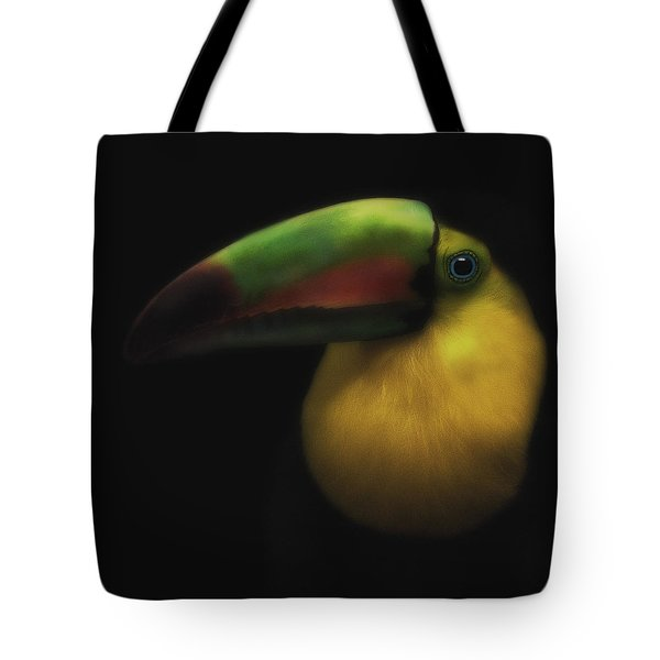 Toucan On Black Tote Bag