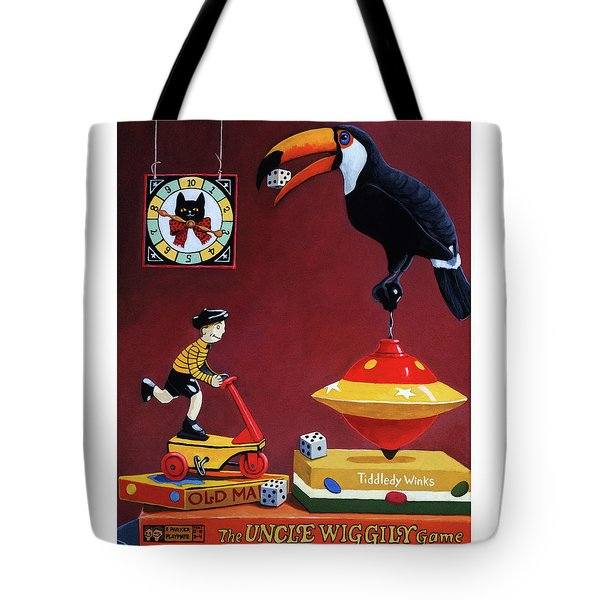 Tote Bag featuring the painting Toucan Play At This Game by Linda Apple