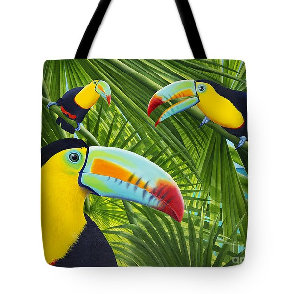 Toucan Threesome Tote Bag