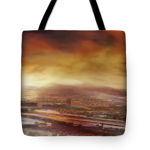 Touch By The Sunrise Tote Bag