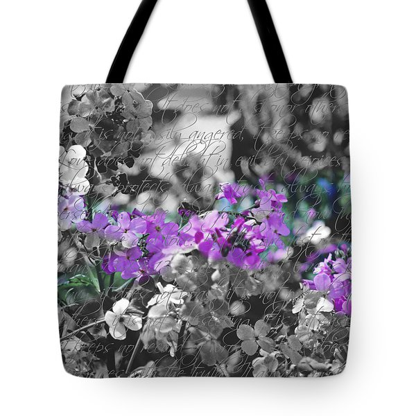 Touch Of Phlox Tote Bag