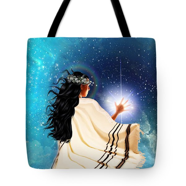 Touch The Light Tote Bag