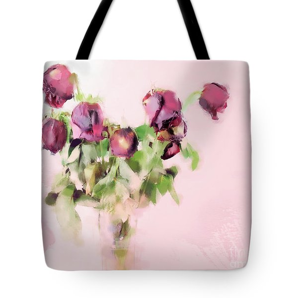 Tote Bag featuring the mixed media Touchable by Betty LaRue