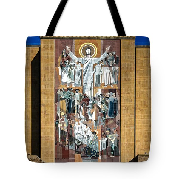 Touchdown Jesus - Hesburgh Library Tote Bag