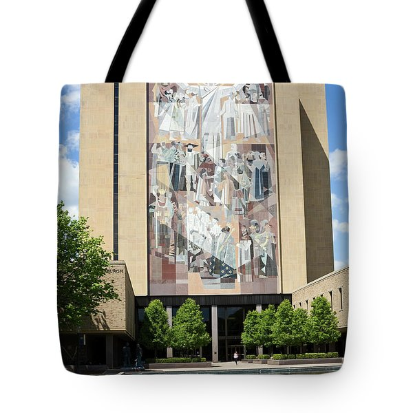 Touchdown Jesus Mural Tote Bag by Sally Weigand