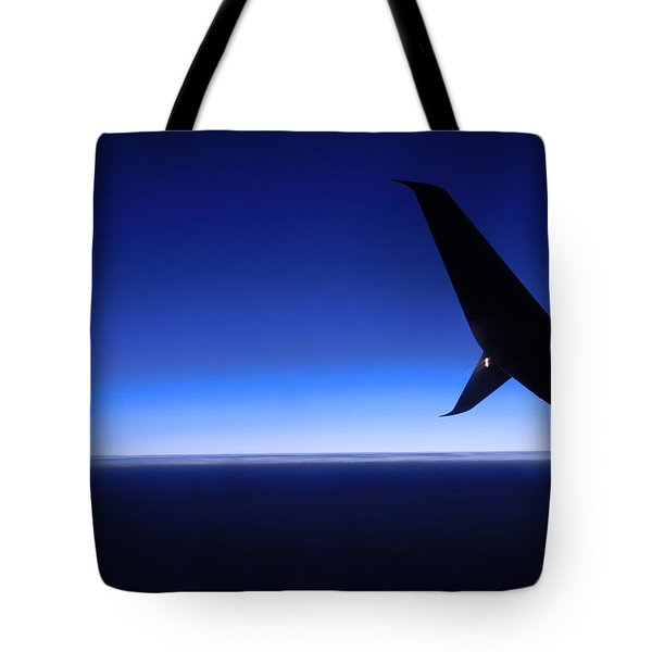 Touched By Blue Skies Tote Bag
