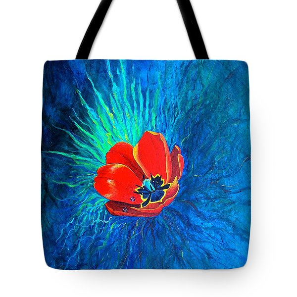 Tote Bag featuring the painting Touched By His Light by Nancy Cupp