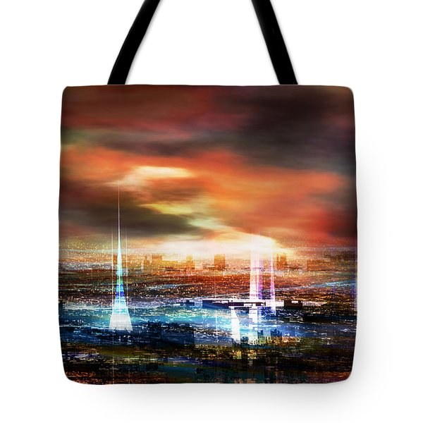 Touch By The Sunset Tote Bag