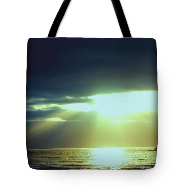 Touched From Above Tote Bag