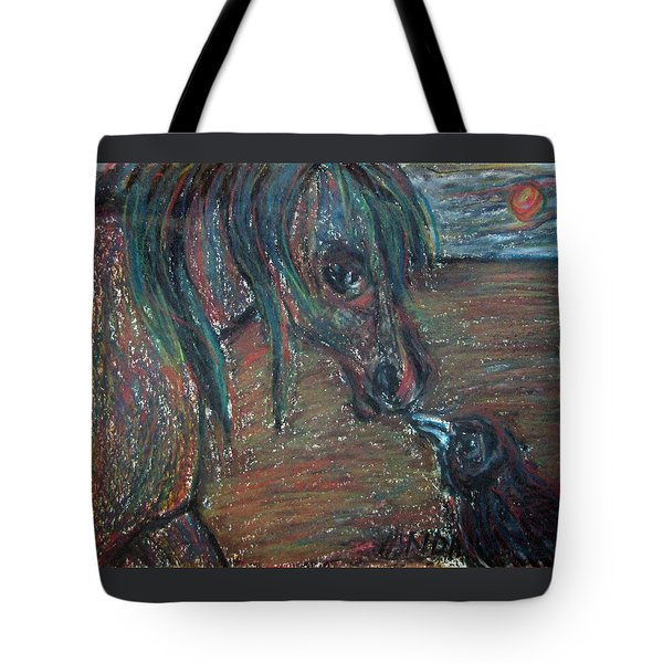 Touching Noses Tote Bag