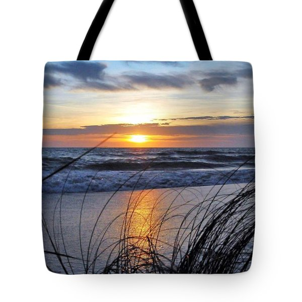 Touching The Sunset Tote Bag