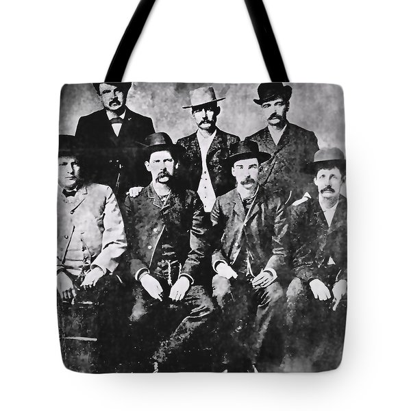 Tough Men Of The Old West Tote Bag by Daniel Hagerman
