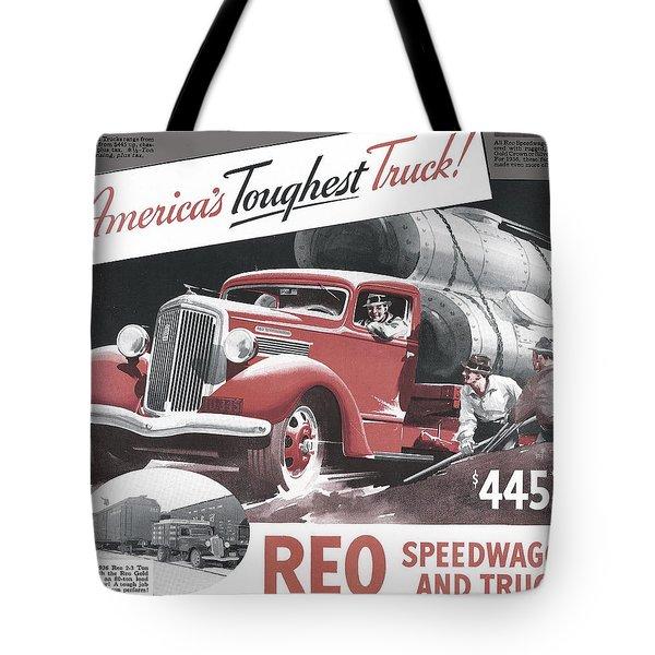 Toughest Truck Ad Tote Bag