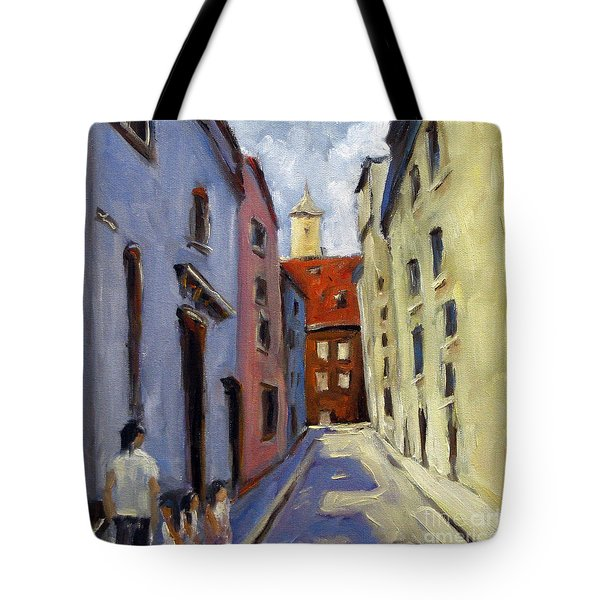 Tour Of The Old Town Tote Bag by Richard T Pranke