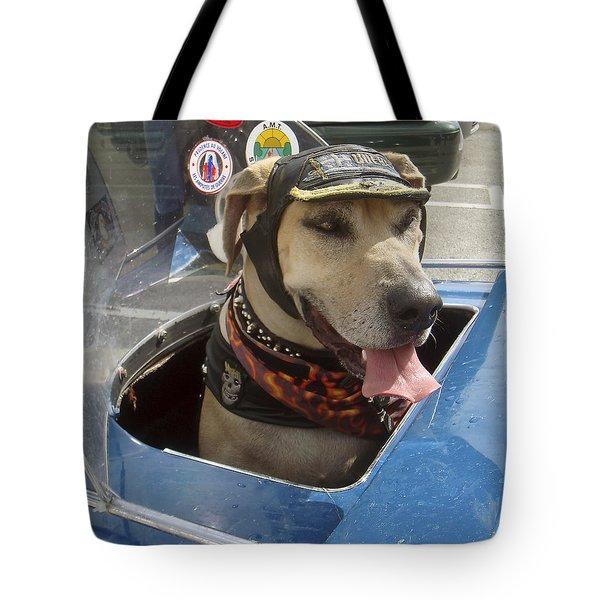 Tourist Dog 2 Square Tote Bag
