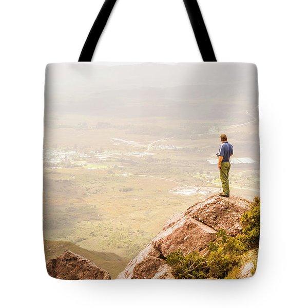 Tourist On The Tip Of Western Tasmania Tote Bag