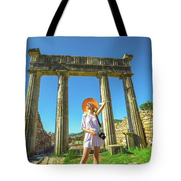Tote Bag featuring the photograph Tourist Traveler Photographer by Benny Marty