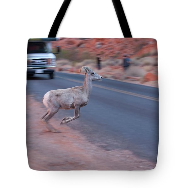 Tourists Intrusion In Nature Tote Bag