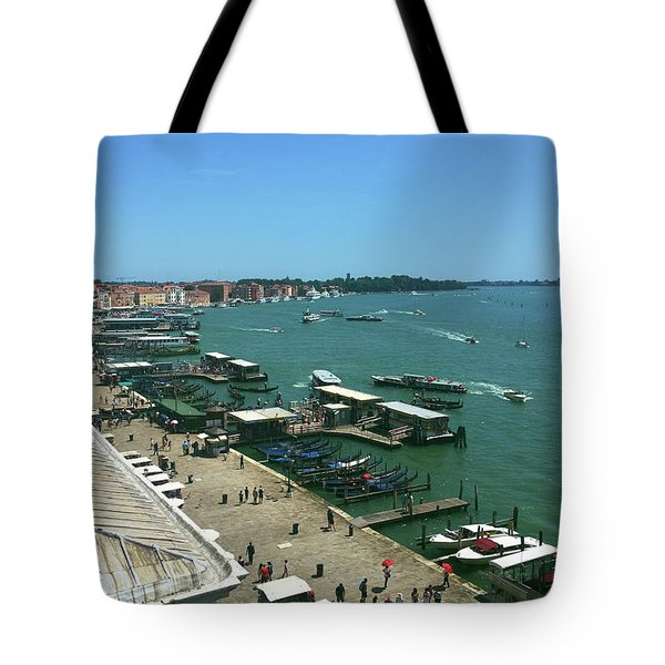 Tote Bag featuring the photograph Towards Giardino by Anne Kotan