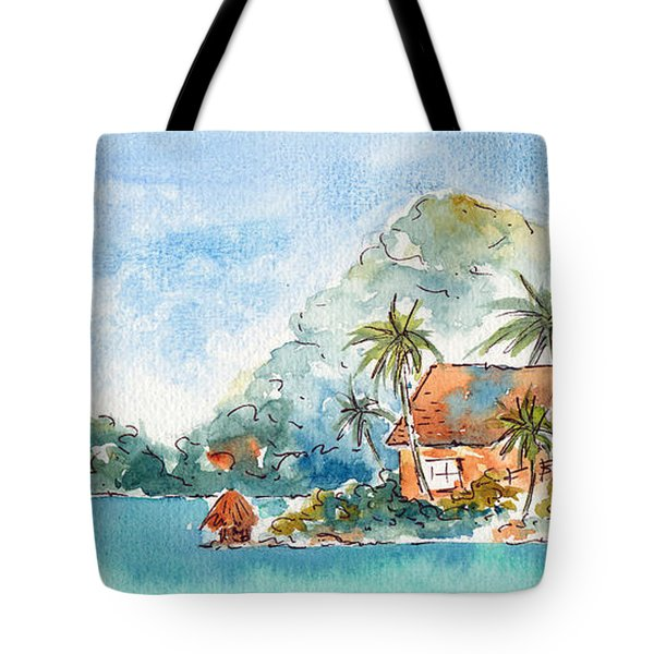 Towards Raititi Point Tote Bag