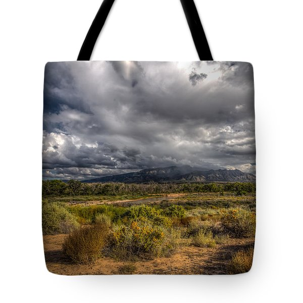 Towards Sandia Peak Tote Bag