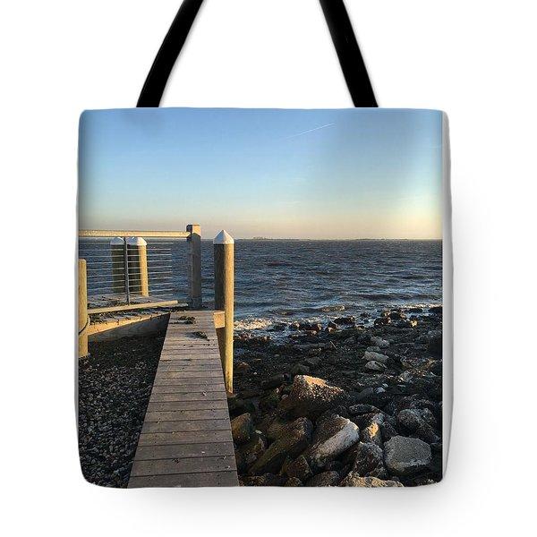 Towards The Bay Tote Bag