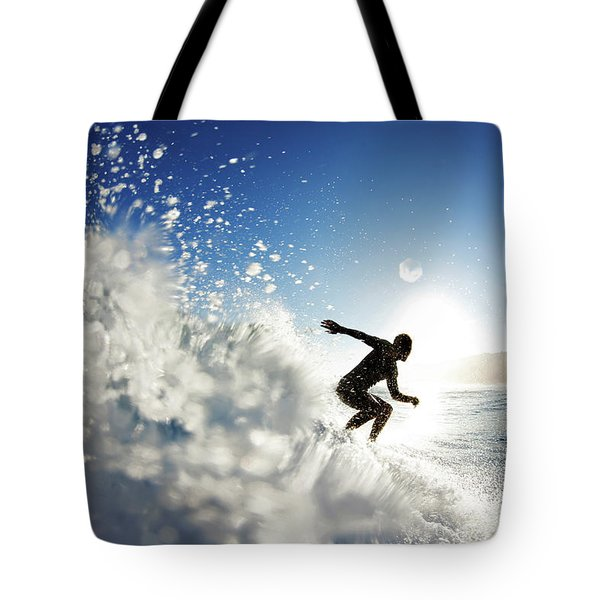 Towards The Light Tote Bag by Sean Davey