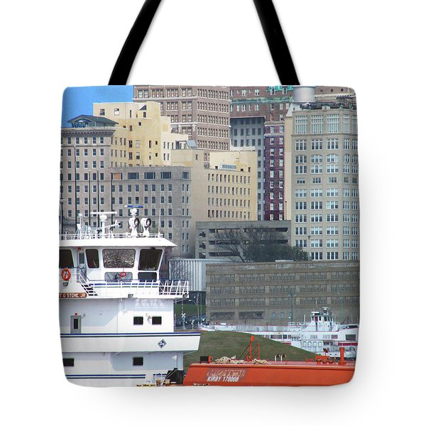 Towboat Robt G Stone At Memphis Tn Tote Bag