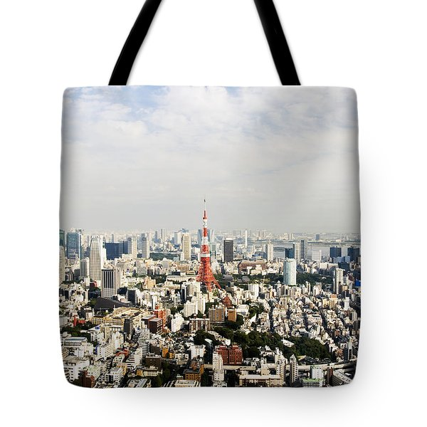 Tower And City View Tote Bag by Bill Brennan - Printscapes