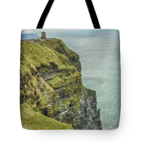 Tower At The Cliffs Of Moher Tote Bag